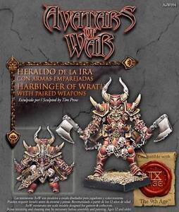 AVATARS OF WAR - AOW94 Champion of War w/Two Weapons *Warhammer Style*