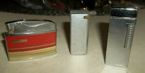 3 Vtg Cigarette Lighters
