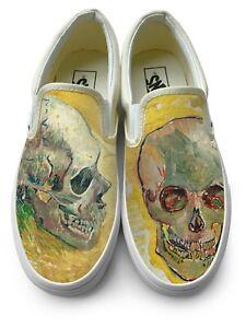 Van Gogh Skulls Slip-on Vans Brand Shoes