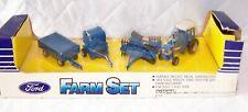 Ertl Ford Farm Set #1378 Die Cast 1/64 Scale 1986 Tractor Machinery Mib
