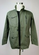 Mens Apolis Transit Issue Field Jacket Cotton Green XS Extra Small Hood Rain