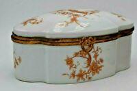 Vintage Limoges Bird of Paradise Vanity Box Trinket Box