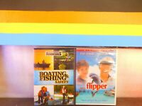Lot of Two Flipper / Outdoor Adventures: Boating & Fishing Safety DVD New Sealed