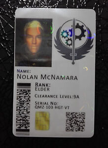 Brotherhood of Steel Novelty Cosplay ID Badge Card - Fallout - *CUSTOMISABLE*