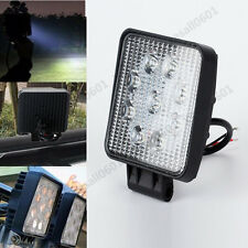 27W 9 LED Spot Lamp Led Work Light Bar Car Boat Truck Offroad SUV Tractor 6000K