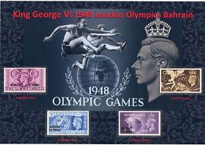 KING GEORGE VI NICE USED DISPLAY OF 1948 LONDON OLYMPICS BAHRAIN MINT