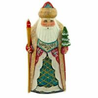"""Hand Painted Santa Claus Russian Father Frost Figurine 6 1/2 """" Tall"""