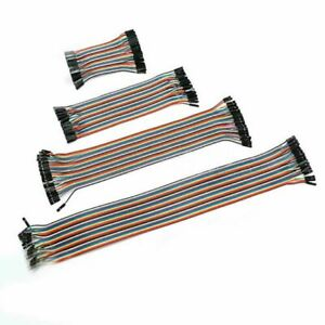 40P DuPont Cable Ribbon Jumper Wire Female to Female/Male 10cm/21cm/30cm/40cm