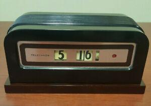 "1930's Telechron #8B07 ""Baron"" Black w/Maroon Base. Walter Dorwin Teague"