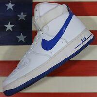 Nike Air Force 1 High 07 White/Hyper-Blue Shoe VTG 2012 [315121-114] Men's 10.5