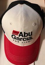 Abu Garcia Hat Cap For Life Spinning Fishing Reel Rod Adjustable Black Red White