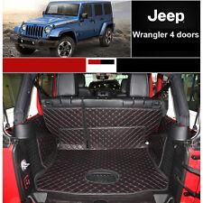 Cargo Trunk Boot Liner Carpet Mat For Jeep Wrangler 4 doors 2007-2016 Waterproof