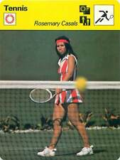 "Record card: rosemary ""rosie"" casals usa tennis 1970s"