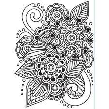 """Darice """"Henna"""" Cartella di Goffratura - 4.24""""x5.75"""" - Indiano Fiore Henna TIMBRO"""
