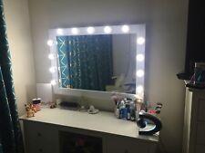 42 inch x 30 Inch Hollywood Light Bulb Illuminated Salon Makeup Mirror