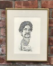 David Levine Ink Drawing Of Bobby Seale. Black Panthers Founder. Signed. 1970