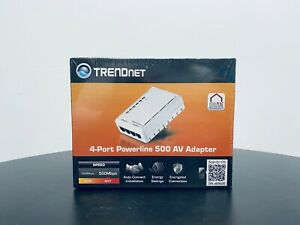 TRENDnet TPL-4052E 4 Port Powerline Network 500 AV Adapter - Boxed New Original