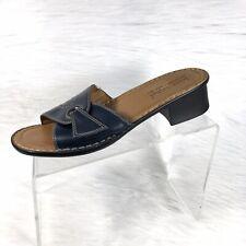 Joseph Seibel Women's Sandals Slides Blue Leather Size 41 US 10-10.5