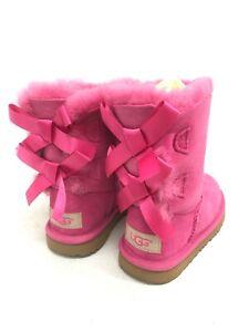 UGG Kid's Bailey Bow II Boots Pink Azul 1017394T Sheepskin