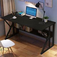 Computer Desk Table Workstation Home Office Student Dorm Laptop Study w/Shelf H
