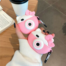 For Apple Airpods Case 3D Cute Cartoon Camera Hello kitty Earphone Holder Cover