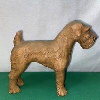 Vtg 30-40's Burwood AIREDALE Jorky FOX Terrier Dog Statue Figurine Paperweight