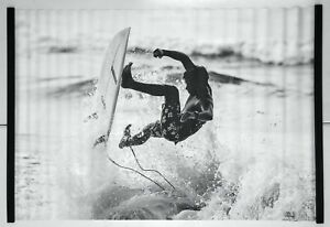 NEW Pottery Barn TEEN Black And White Surfer Hanging Canvas Wall Mural~4' x 6'