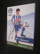 48895 Levan Kobiashvili Hertha BSC 2009-2010 original signierte Autogrammkarte