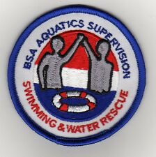 "Swimming & Water Rescue  Patch, ""BSA 2010"" Slogan Backing, Mint!"