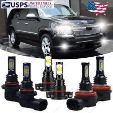 For Chevy Suburban Tahoe 2007-2014 - 6X 6000K Led Headlights Fog Light Bulbs Qhb