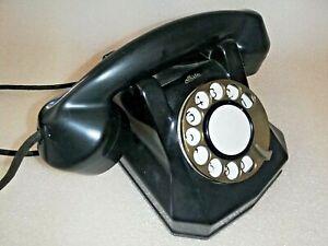 """TELEFONO VINTAGE AUTELCO """"CARRARMATO"""" CARRO ARMATA IN BACHELITE ANNI 50"""
