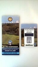2007 PGA Championship Badge & Spectator Guide, TIGER WINS MAJOR!