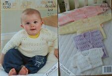 Crochet Pattern Baby Bolero Jumper Sweater Cardigan Waistcoat DK Double Knit