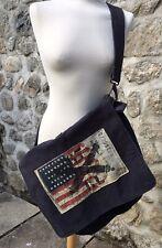 Sac Besace Ralph Lauren Blue Bag XL