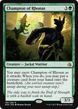 CHAMPION OF RHONAS Amonkhet MTG Green Creature — Jackal Warrior Rare