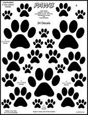 24 Dog Paw Tracks Stickers Decals. K9 Stickers, Laminated Quality.