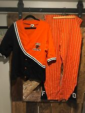 Vintage 70s or 80s Of Basketball warmup, Shooting Shirt & Pants, Size L