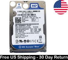 "WD Western Digital Scorpio Blue 250GB 5400 RPM 2.5"" SATA HDD Hard Drive Disk"