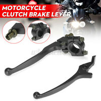 "BLACK 7/8"" FRONT PIT DIRT BIKE CLUTCH BRAKE LEVER SET 50cc 125cc 140cc 160cc"