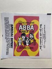 1976 Scanlen's Abba Band Cards Wax Wrapper Reprint Rare