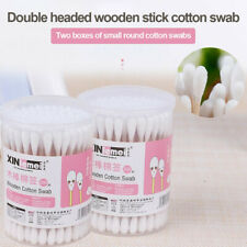 2 Boxes Double Ball Head Bamboo Stick Cleaning Absorbent Boxed Cotton Swabs