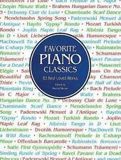 Favorite Piano Classics (Dover Music for Piano) by Classical Piano Sheet Music
