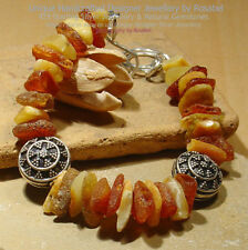 Handmade Sterling Silver Amber Fine Bracelets