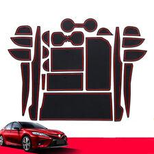 21PCS Interior Door Mat Gate Slot Pad Cup Mat Hold Trim For Toyota Camry 2018