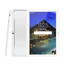 10.1 Inch 3G IPS Screen Quad Core Android Tablet PC Metal Dual Sim White