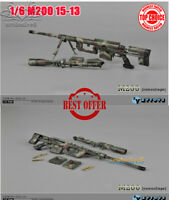 "1/6 Scale Camo M-200 Sniper Rifle Gun Model Weapon Fit 12"" Soldier Action Figure"