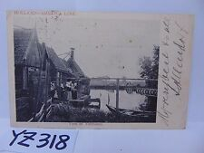 POSTED POSTCARD STAMP 1907 HOLLAND AMERICA LINE VIEW OF VOLENDAM RARE