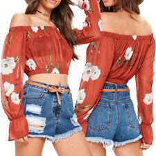Camisas y tops de mujer sin marca color principal rojo de poliéster