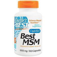 Doctor's Best, Best MSM, 1000 mg, 360 Capsules