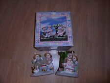 "Adorable Fabric Mache' Spring (Easter) Bunnies 8 1/2"""